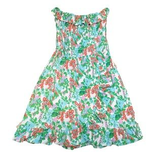 Lilly Pulitzer Flor Bee Strapless Ruffle Dress